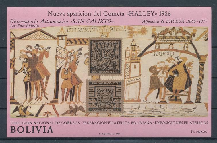Motive Bolivien Bl.152** Halleyscher Komet WunderschöNen 150684