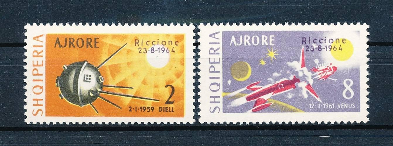 Symbol Of The Brand 149856 Riccione In Short Supply Albanien Nr.857-8** Bm Ausst